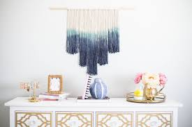 diy how to make a dip dyed wall hanging a pretty penny