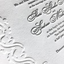 embossed wedding invitations original letterpress wedding invitations stationery designs