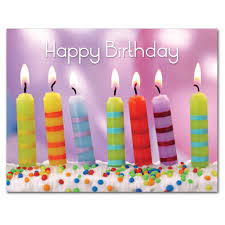 happy birthday postcards boxed birthday postcards for business and school use striped candles