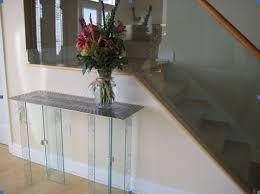 Tables For Hallway Inspirations Glass Hallway Table With Glass Tables Image