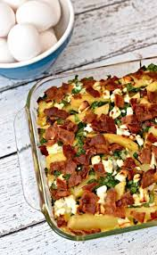 egg casserole recipe with bacon spinach and feta
