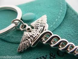 key rings tiffany images Tiffany co silver medical doctor caduceus key ring key chain jpeg
