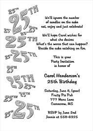 25th birthday invitations badbrya