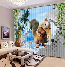 bedding room 3d curtains curtains for living room cartoon 3d