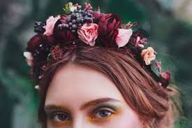 floral accessories boho floral crowns and wreaths by magaela accessories