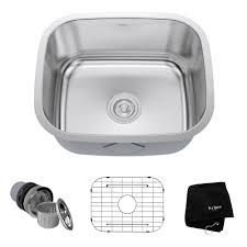 KRAUS Undermount Stainless Steel  In Single Basin Kitchen Sink - Kitchen sink 21