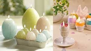 Easter Egg Lights Decorations by Eco Friendly Easter Candles Centerpieces Adding Color Light And