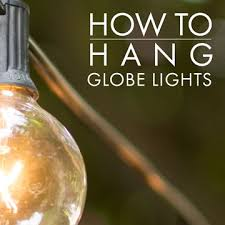 string lights outdoor how to hang outdoor globe string lights