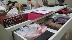 Ikea Micke Desk Makeup My Vanity Work Desk Ikea Micke Vs Malm U0026 Fingal Chair Youtube
