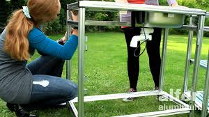 aussenküche bauanleitung outdoor küche mit coaxis system profilen