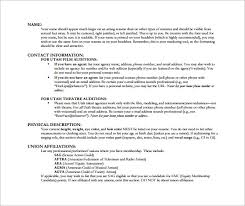 Resume Examples Byu by Acting Resume Template U2013 8 Free Word Excel Pdf Format Download