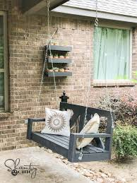 porch diy 40 farmhouse porch swing shanty 2 chic