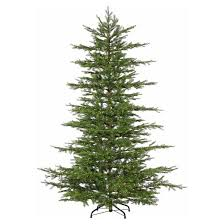 7 5ft pre lit artificial christmas tree full mesa pine warm