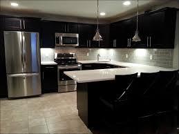 kitchen kitchen lighting gray backsplash subway tiles farmhouse