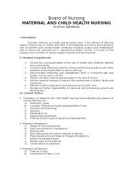 Labor And Delivery Nurse Description Course Syllabus For Maternal And Child Health Nursing Docshare Tips