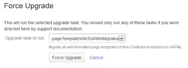 migration of templates from wiki markup to xhtml based storage