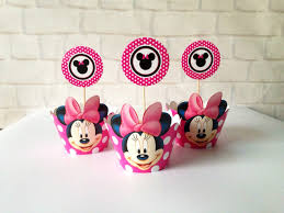 minnie mouse baby shower favors minnie mouse party supplies baby shower favors cupcake cases cupcake