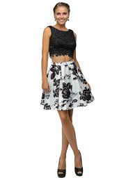 mock two piece short a line homecoming dress couturecandy