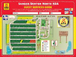 Unt Parking Map Sanger Texas Campground Sanger Denton North Koa