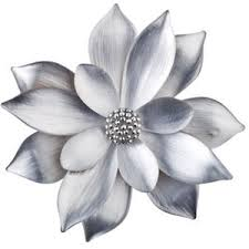 silver flower pin polyvore
