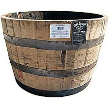 Half Barrel Planter by Jack Daniel U0027s Half Whiskey Barrel Planter For The Home