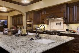 granite countertop southwest style kitchen cabinets bread