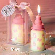 baby shower return gifts arabic wedding favors pink baby bottle candle favor with baby