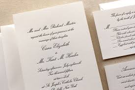 formal wedding invitations the conservatory suite formal letterpress wedding invitation