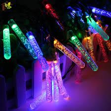 3 5 m 20 leds ice piton shape led solar garden string lights xmas party decorations waterproof solar powered led lamp