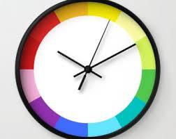 Modern Wall Clock Etsy - Modern designer wall clocks