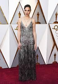 dress gal gal gadot s oscar dress see stunning silver sequin gown