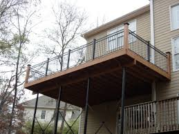 pressure treated deck with fortress iron railing shelton home