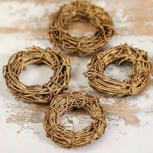 miniature golden twig wreaths grapevine floral