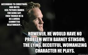 according to christians god hates neil patrick harris for being