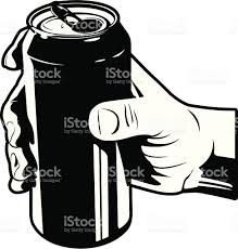beer can cartoon holding a soda stock vector art 152000056 istock