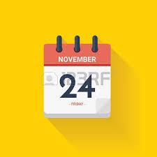 vector illustration day calendar with date november 24 2017