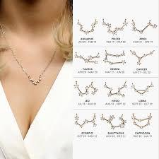 aliexpress crystal necklace images Buy capricorn sagittarius aquarius constellation jpg