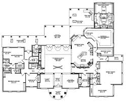 house plans 5 bedroom single story house plans spanish home