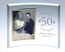 personalize wedding gifts personalized curved glass picture frame a classic anniversary or