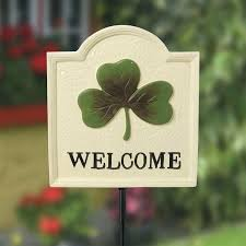 shamrock welcome the irish are known the world over for their