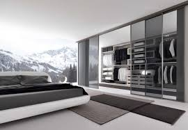 Sliding Door Bedroom Wardrobe Designs Enchanting Bedroom With Walk In Wardrobe Design Idea Presented