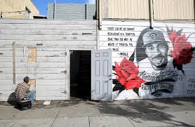 why the mario woods killing 1 year ago was a powerful moment for the mural for mario woods seen on oakdale at third streets on tuesday november 22