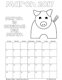 printable march 2016 calendarsholiday favorites
