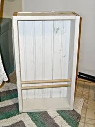 main bathroom redo diy wainscoting u0026 built in magazine rack