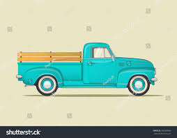 Vintage Ford Truck Hubcaps - classic pickup truck flat styled vector stock vector 392289589