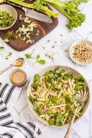 apple walnut salad with honey miso dressing quick easy and delicius
