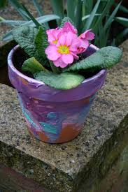 Painting Garden Pots Ideas Flower Pot Painting The Imagination Tree