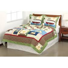 Quilted Bedspread King Mainstays Bear Lodge Bedding Quilt Walmart Com