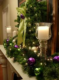 Red Gold And Purple Christmas Tree - awesome ideas of christmas fireplace mantel decorations