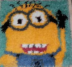 minion 16x16 latch hook kit free shipping from wbillybob7 on
